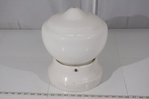 Flush Mounted Light Fixture - Porcelain Base