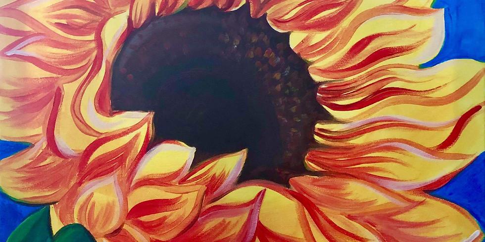 "Paint Night ""Sunflowers"" In The Garden"