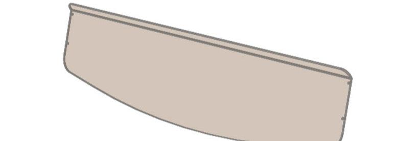 demi pare-brise / half windshield, Ranger XP