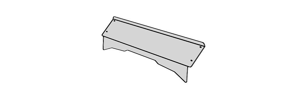 demi pare-brise / half windshield, Pioneer 1000