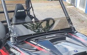 Polaris RZR half windshiled with stiffener