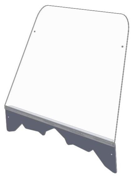 Hisun full windshield with stiffener