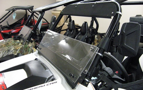 Arctic Cat Prowler (square frame) folding windshield