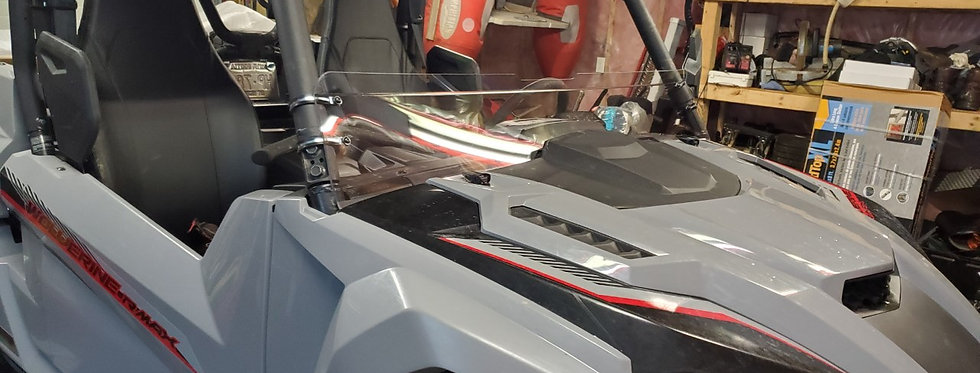 demi pare-brise / half windshield, Wolverine Rmax 2021+