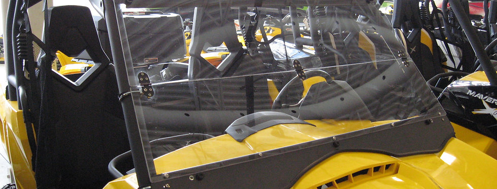 pare-brise pliant Can-Am Maverick 2014+ folding windshield