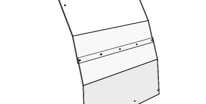 pare-brise arrière / rear windshield, Ranger full-size