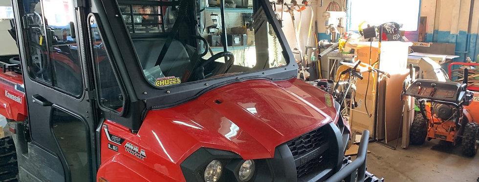 pare-brise de verre / glass windshield kit, Mule Pro MX