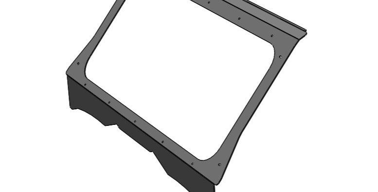 Kit pour pare-brise de verre / glass windshield kit, YXZ1000 2019+