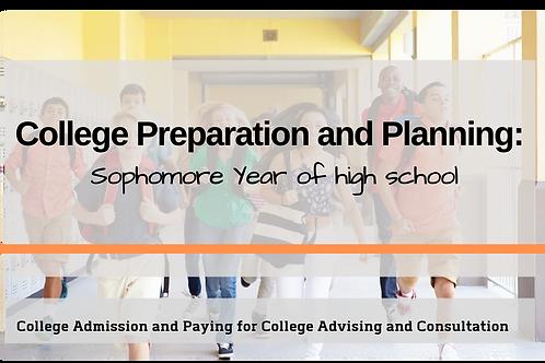 College Prep Advising: Sophomore Year