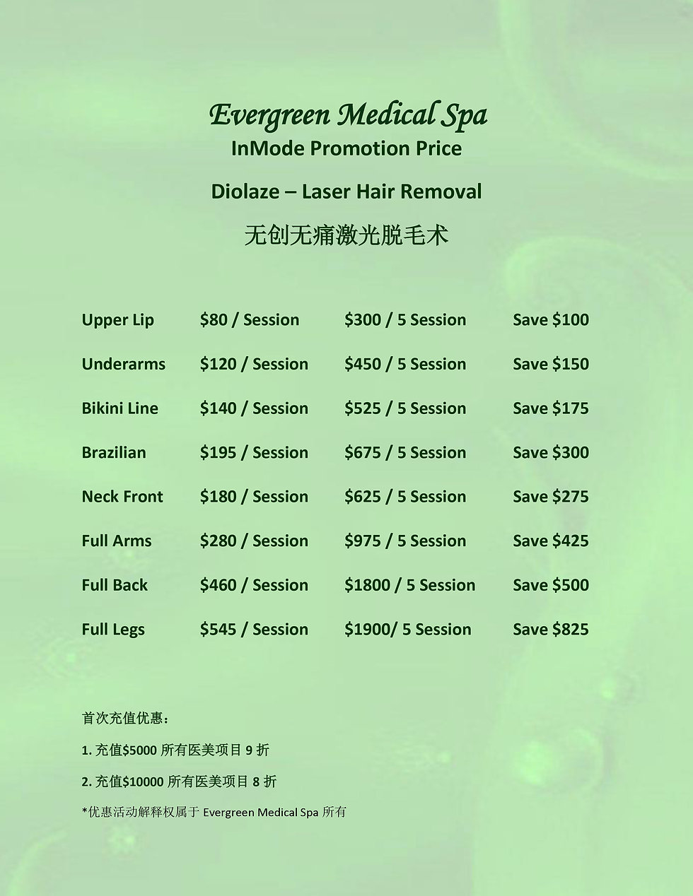 Evergreen Inmode Price List 20200123-1.j
