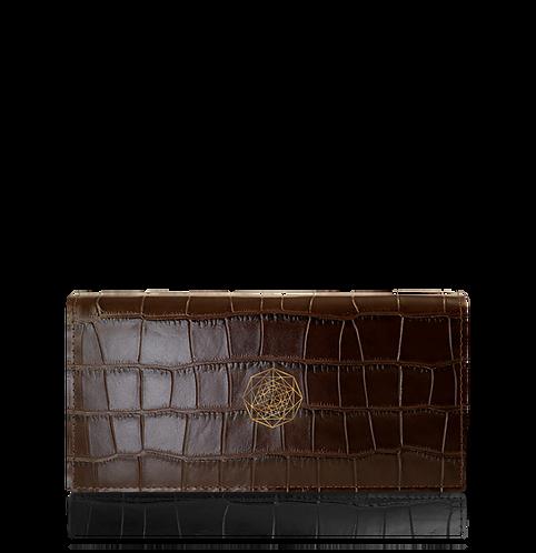 Continental Wallet – Brown Crocodile