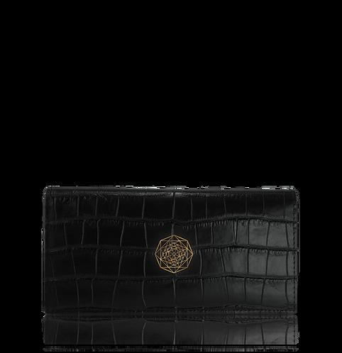 Continental Wallet – Black Crocodile
