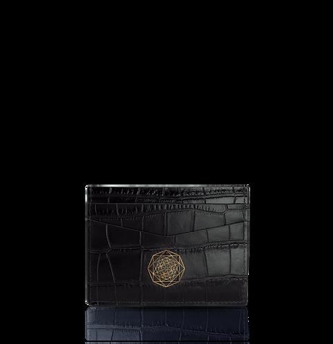 Card Holder – Black Crocodile