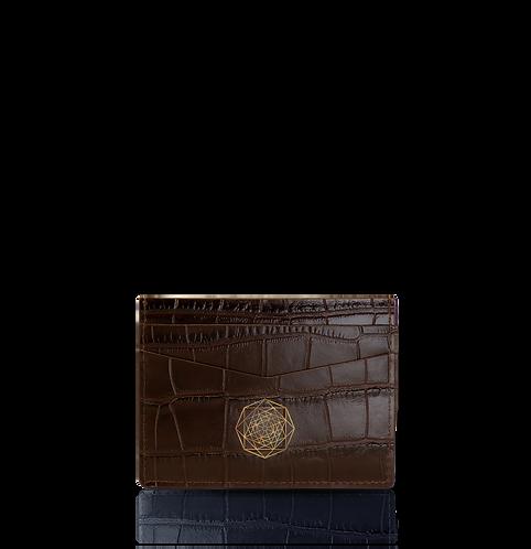 Card Holder – Brown Crocodile