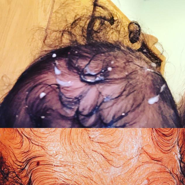 Top: Baby's head in my bowl of cereal. Bottom: Van Gogh's Back, Mona Hatoum.