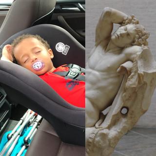 Left: Little Angel. Right: Barberini Faun.