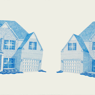 Two Blue Houses