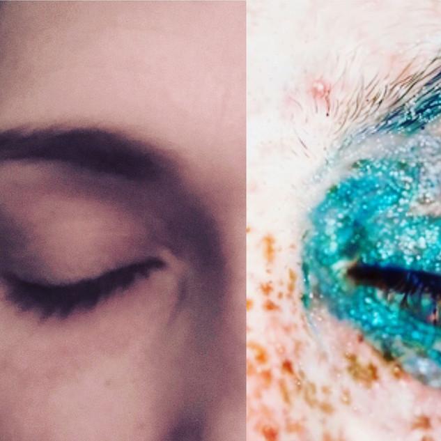 Left: What I feel like. Right: What I wish I felt like (Blue Poles, Marilyn Minter).