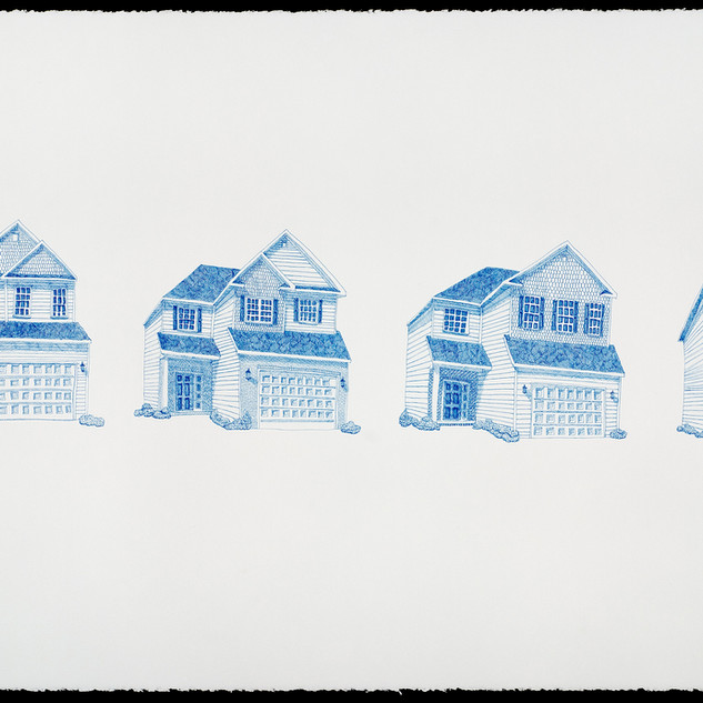 Four Blue Houses