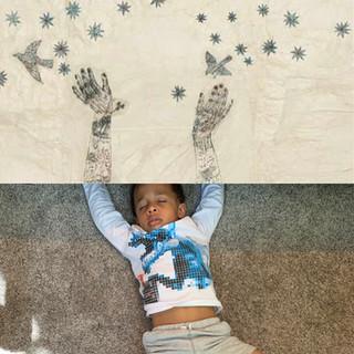 Top: Christmas Card, Kiki Smith. Bottom: Dreamland.