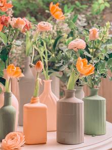 DIY Terracota Textured Bottles