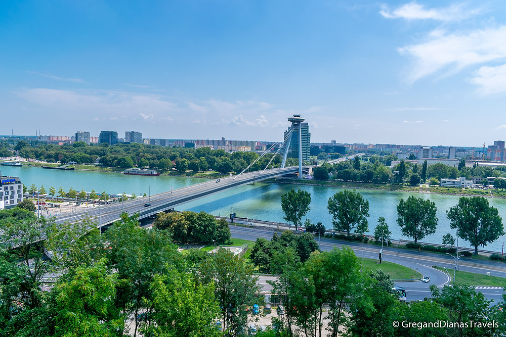 UFO Bridge, Most SNP, Bratislava Slovakia, Travel blog, Travel photography
