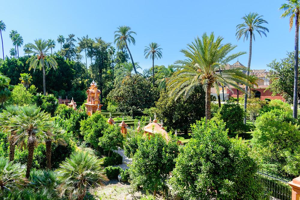 Garden of Alcázar of Seville