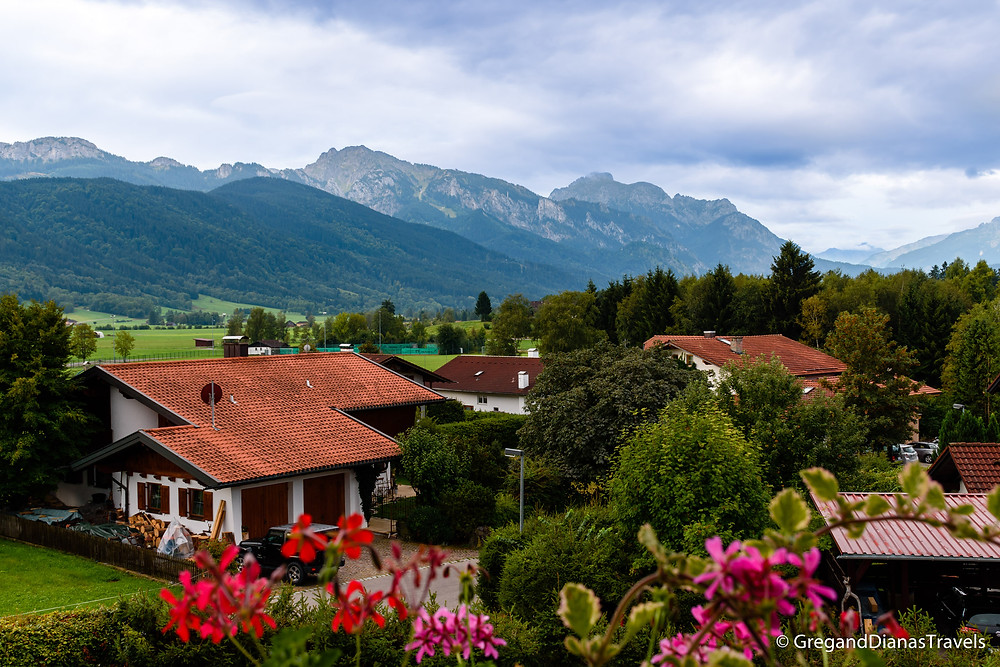 View from hotel room in Halblech, Halblech Germany, Travel blog