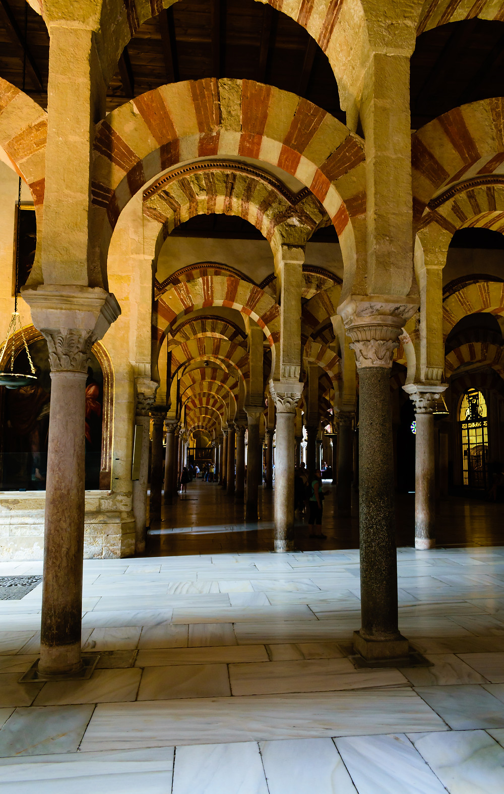 Double arch design in Mosque-Cathedral of Cordoba