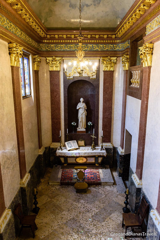 Chapel of Festetics Castle, Statue of St. Sofia, Keszthely Hungary, Travel blog, Travel blogger, Travel photography
