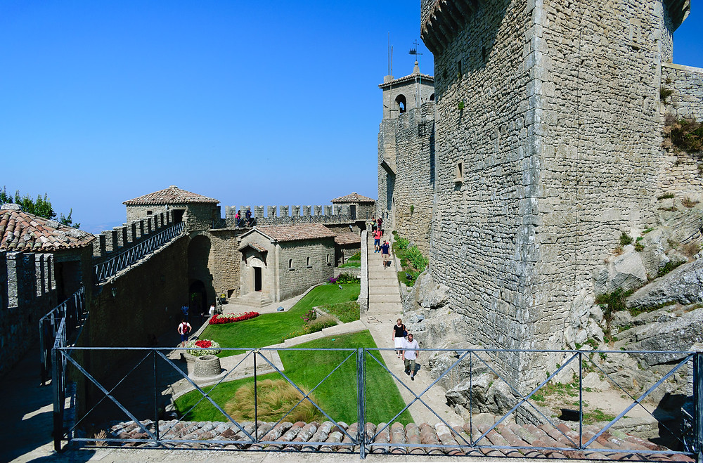 Courtyard of Guaita Fortress