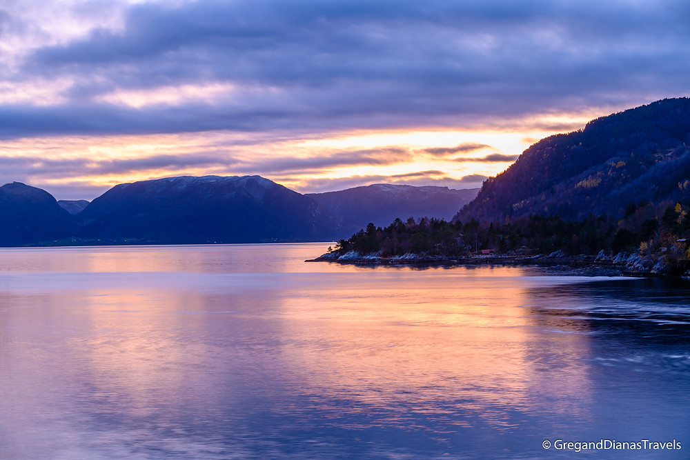Sognefjord at sunset, Norway landscape, Norway nature, Travel Norway, Sognefjord, Norway, fjord,