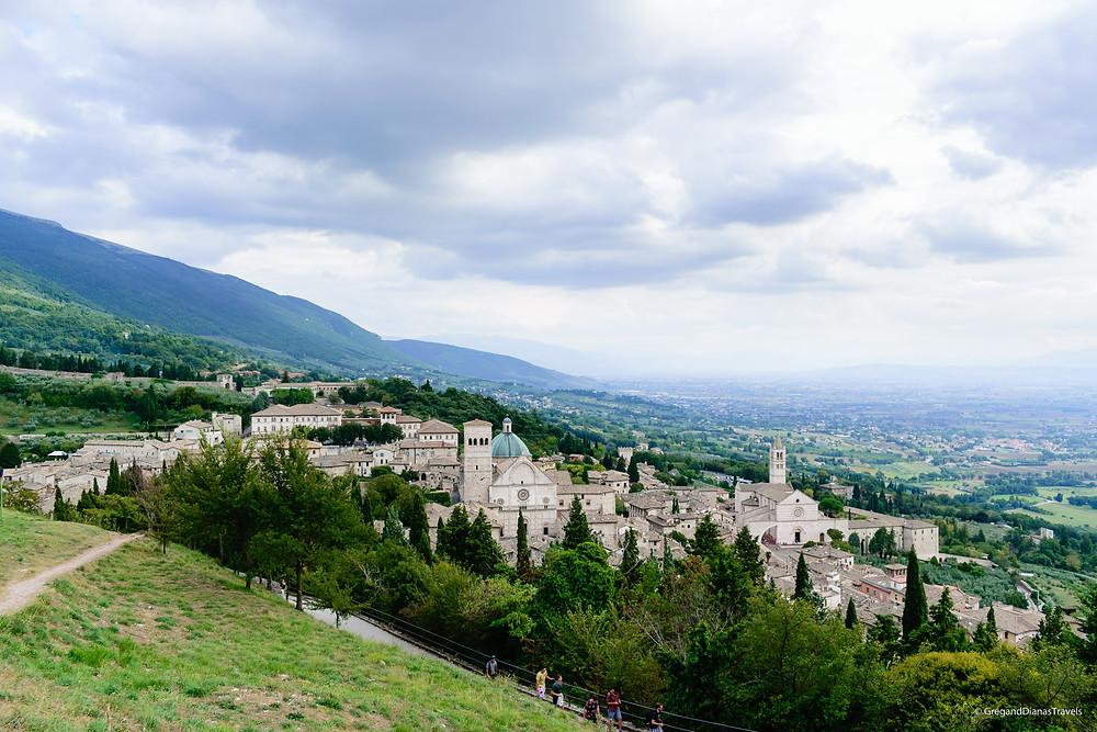 Assisi - view from Rocca Maggiore