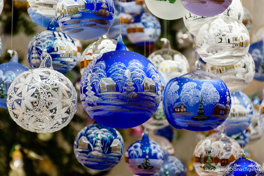 Christmas orbs, Hellbrunn Castle, Salzburg Austria, Travel blog, Christmas Fair, Advent Market