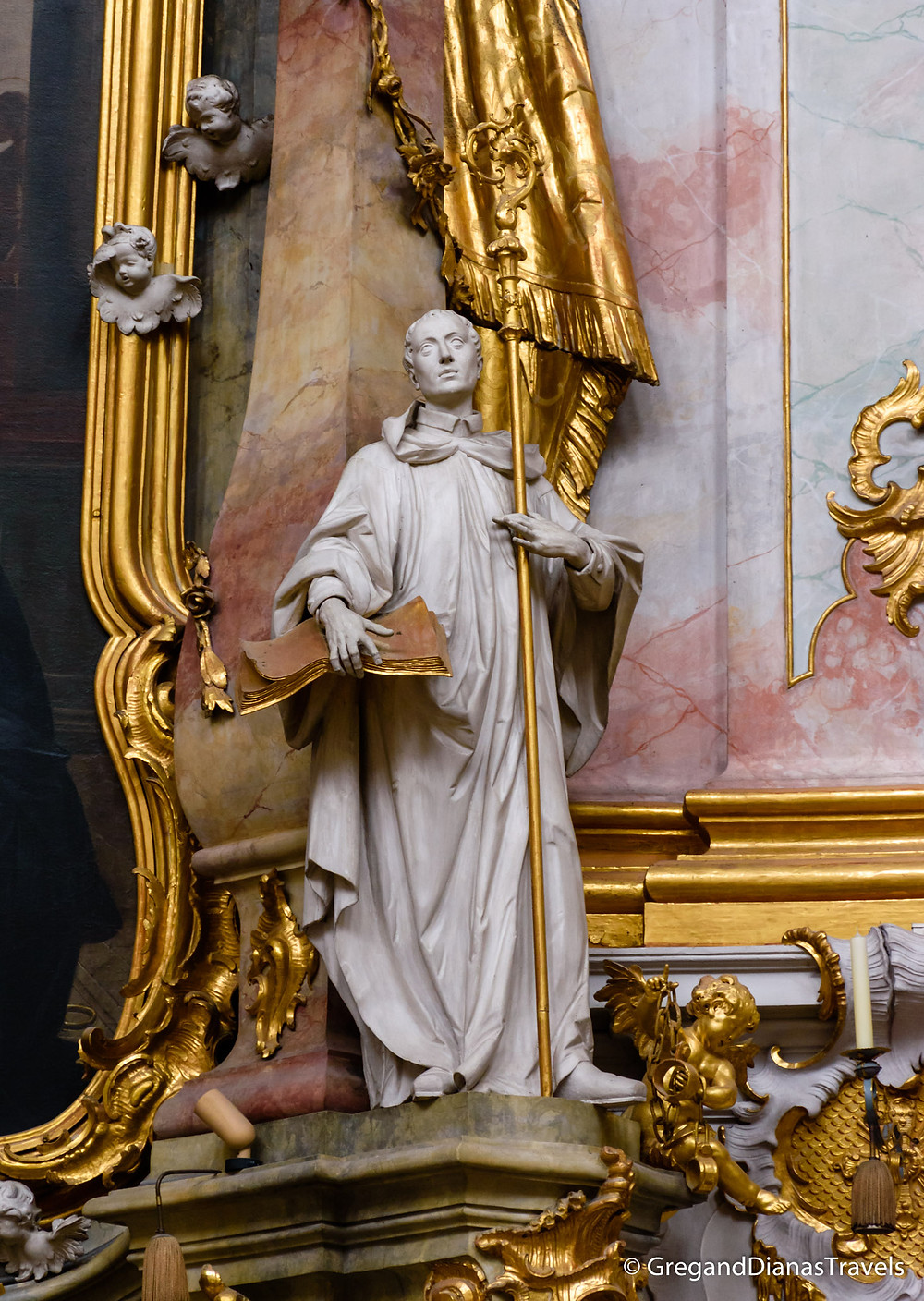 Statue in Ettal Church, Ettal Abbey, Bavaria Germany, Bayern Deutschland, Travel blog, Travel photography
