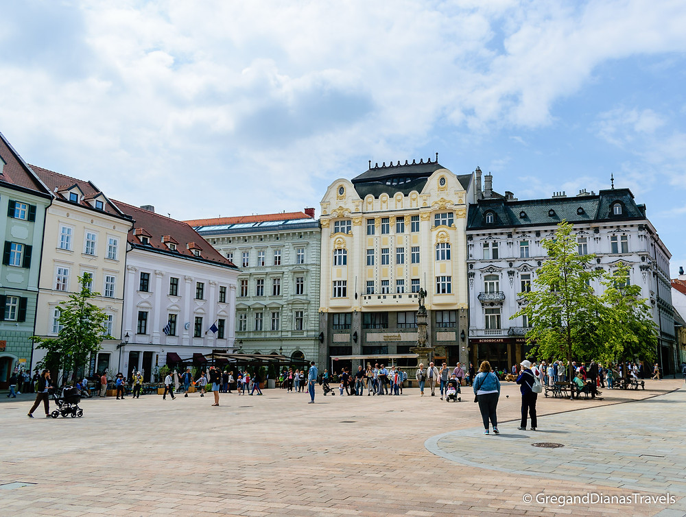 Main Square in Bratislava, Bratislava Slovakia, Travel blog, Travel guide, Travel photography
