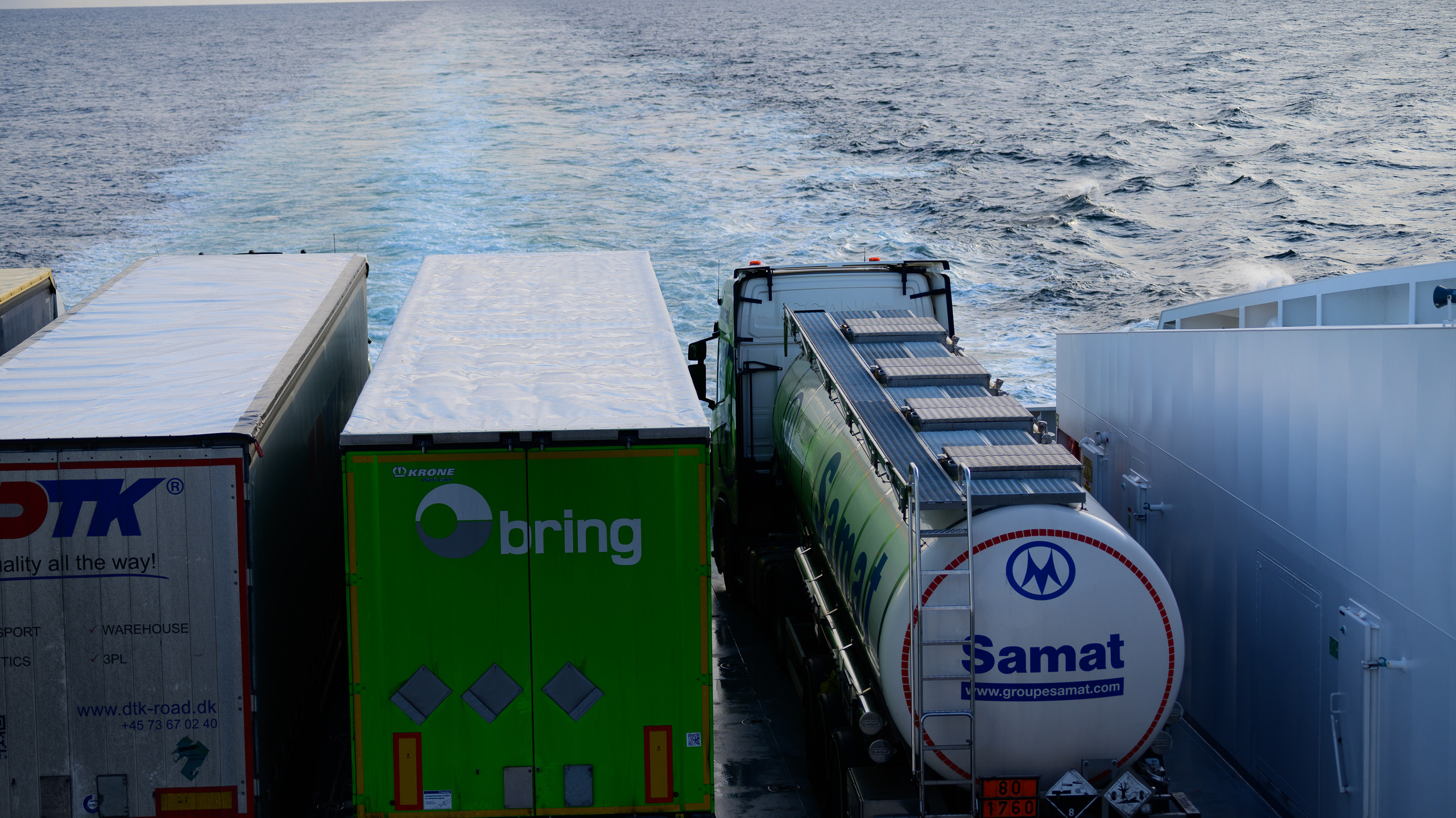 Cargo of Color Line towards Larvik