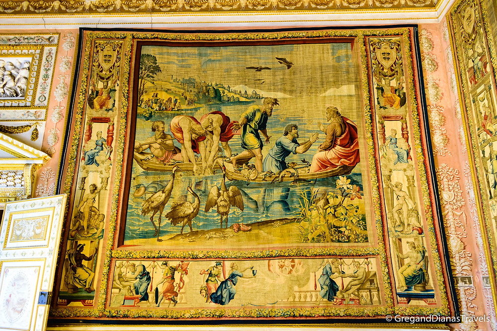 Tapestries on display in the Ducal Palace