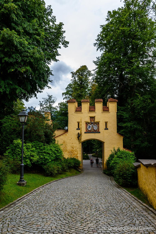 Hochenschwangau Castle Gate, Bavaria Germany, Travel blog, Travel photography