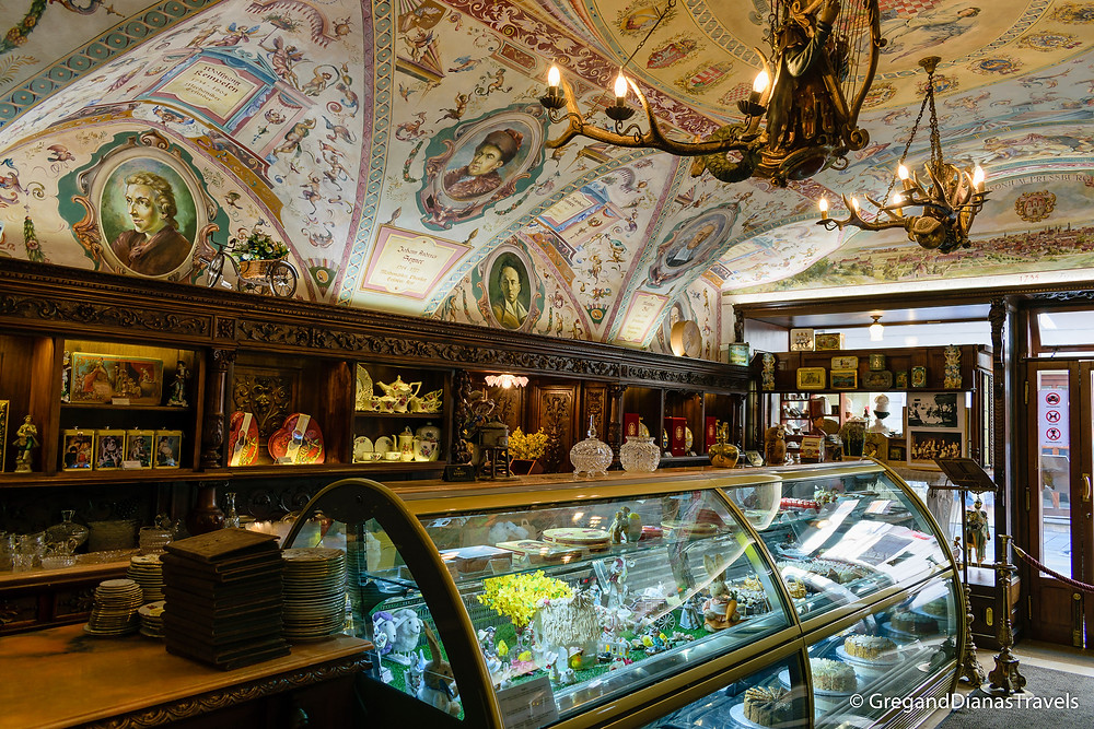 Main Counter in Kormuth Patisserie, Kormuth Patisserie, Bratislava Slovakia, Travelblog