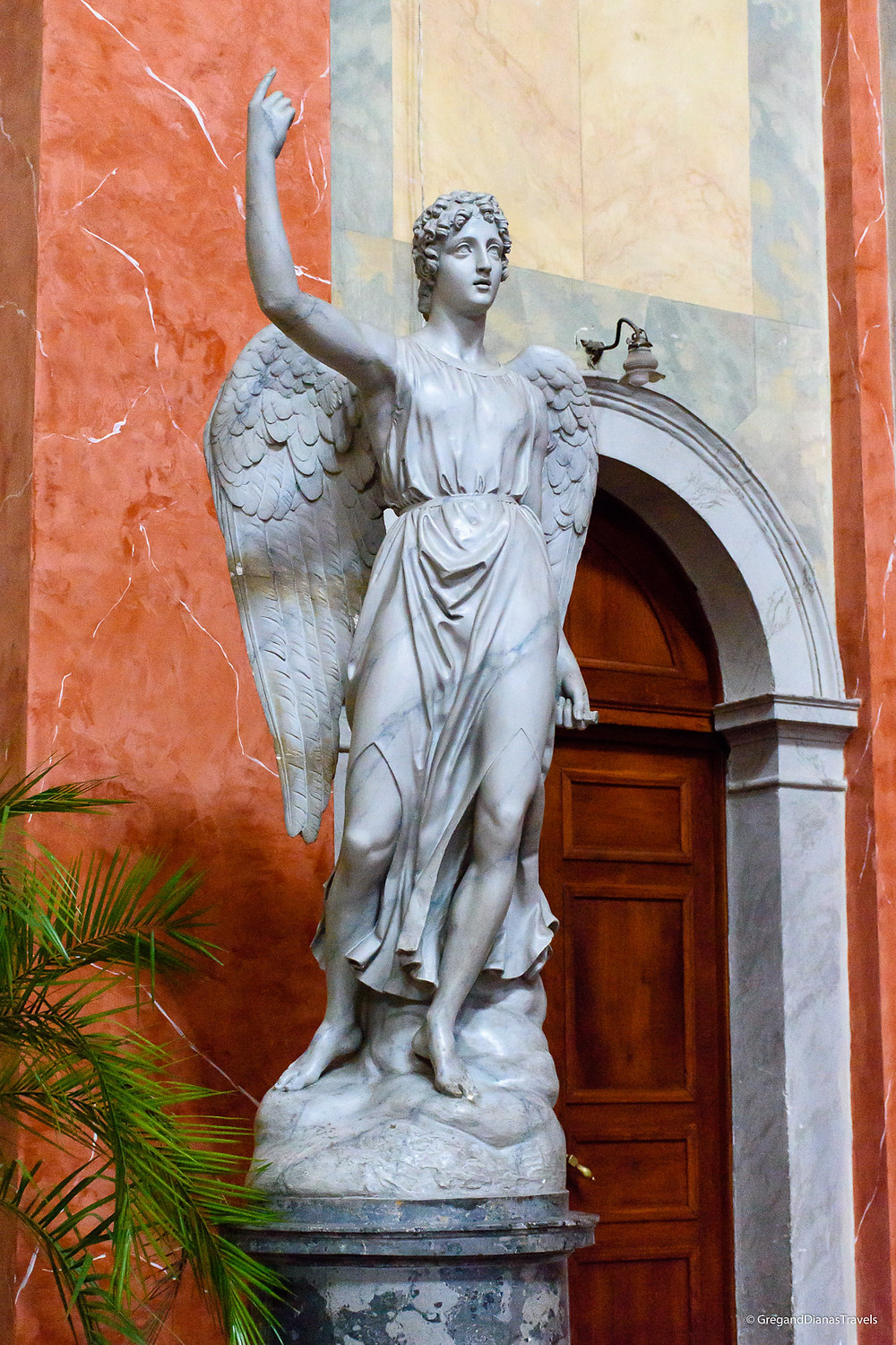 Statue of an angel in Cathedral Basilica of St. John the Apostle