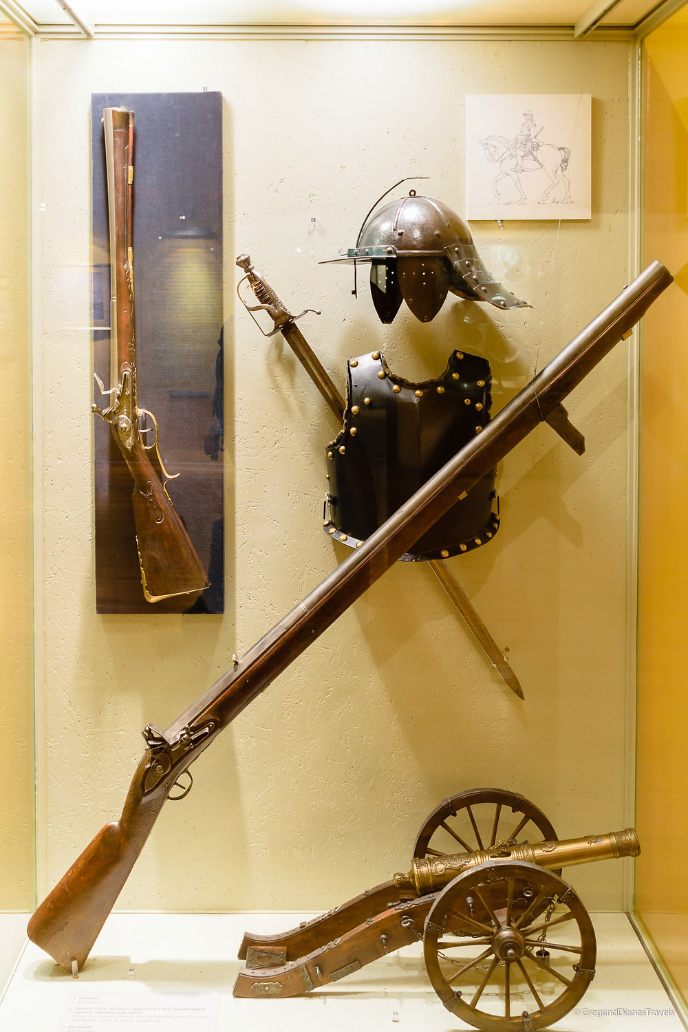 Muskets and armor in István Dobó Castle Museum