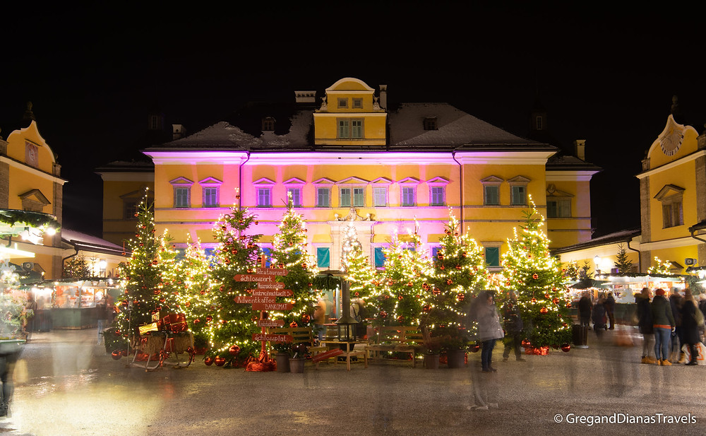 Advent Market in Hellbrunn, Hellbrunn Castle, Salzburg Austria, Travel blog