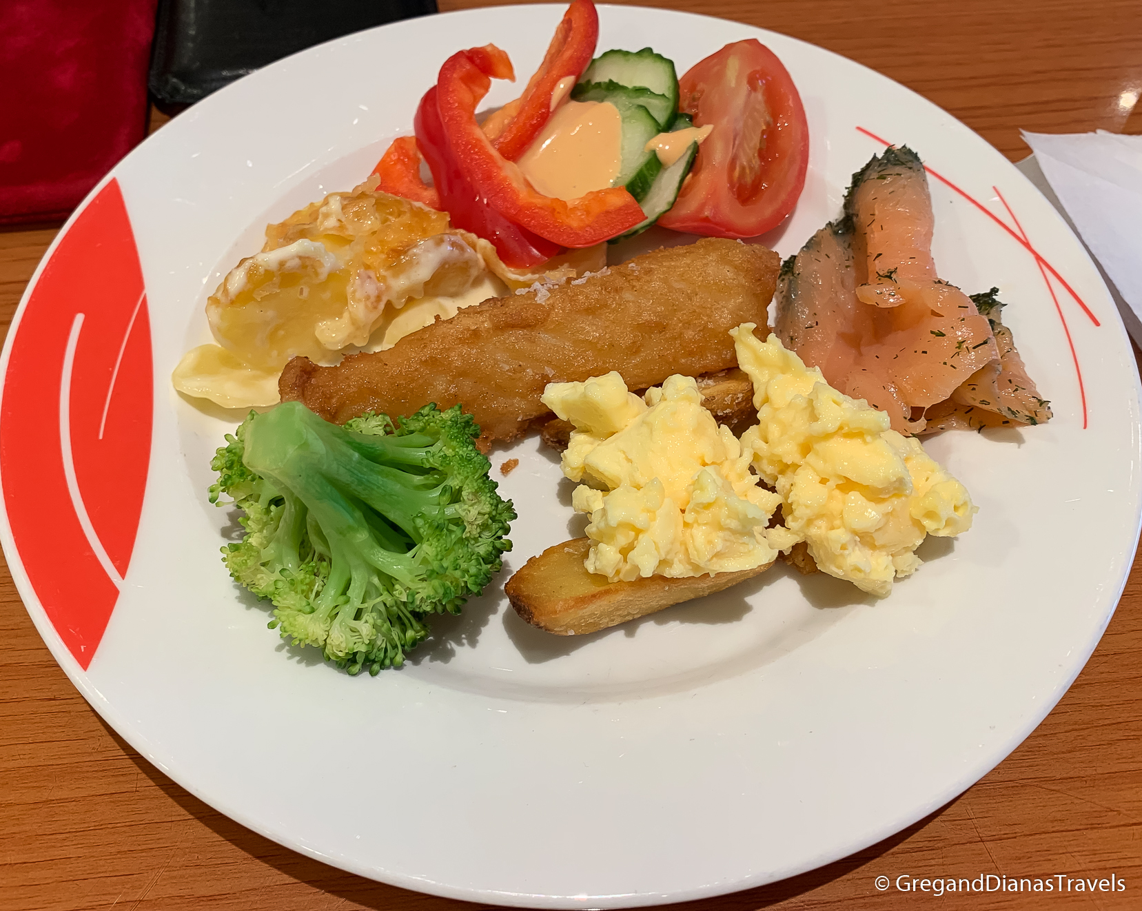 Scandinavian lunch with fish and vegetables