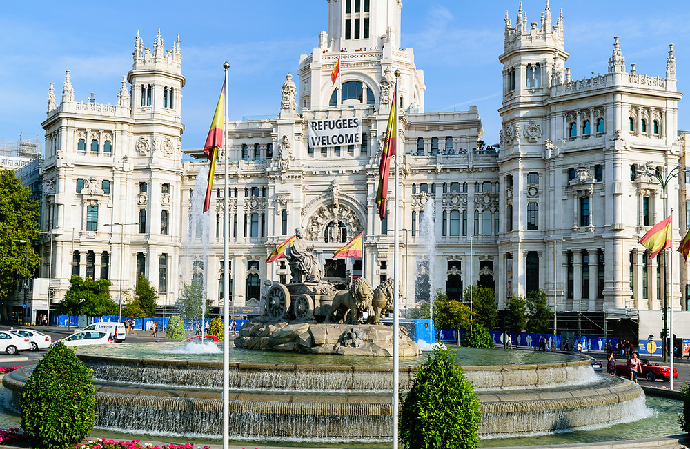 Cibeles Square and the Fountain of Cybele