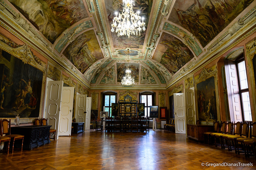 Ceremonial Hall Nadasdy Museum, Sarvar Castle, travel blog
