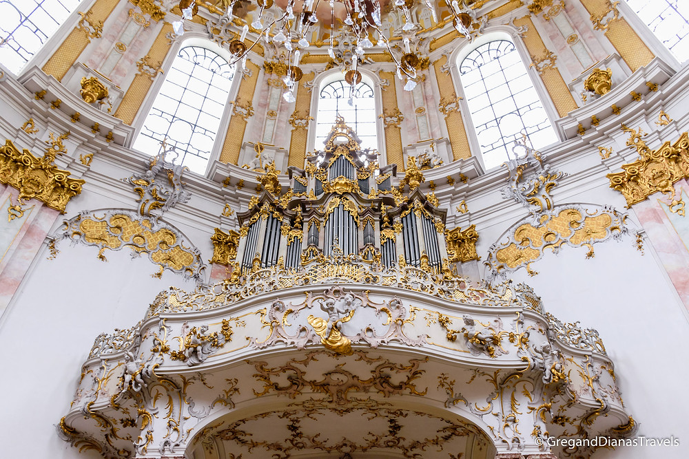 Organ of the Ettal Church, Ettal Abbey, Bavaria Germany, Bayern Deutschland, Travel blog, Travel photography