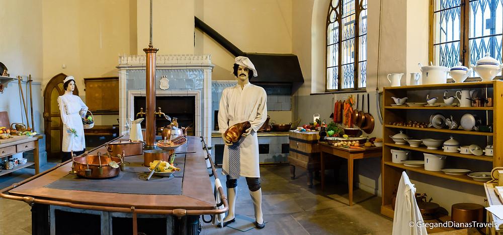 Kitchen of Hochenschwangau Castle, Hochenschwangau Castle, Bavaria Germany, Travel blog, Travel photography