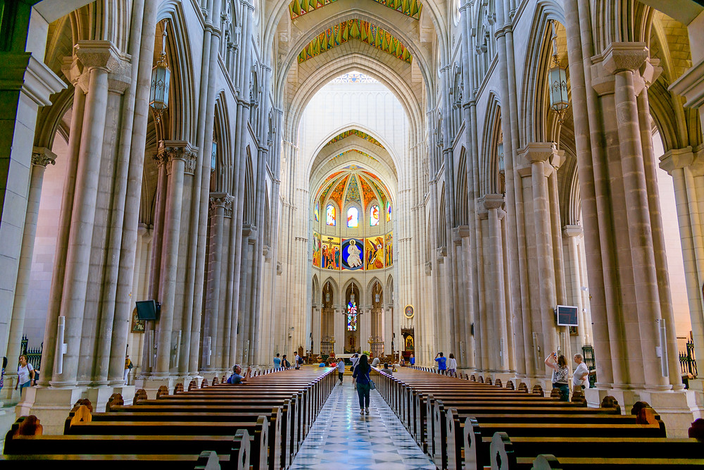 Almudena Cathedral Interior, almudena cathedral Madrid, things to visit in madrid