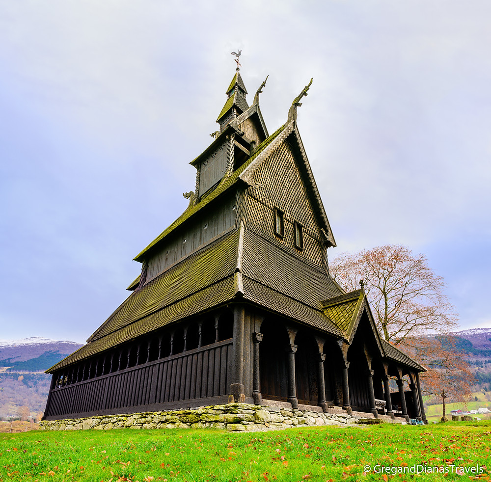 Hopperstad Stave Church side view, Hopperstad Stave Church view from North, Norwegian architecture, traditional Norwegian architecture, heritage of Peter Andreas Blix